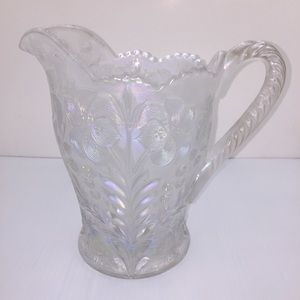 RARE IMPERIAL GLASS PITCHER. WHITE